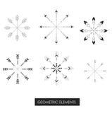 Племенные геометрические элементы Племенной минимализм Стоковые Изображения RF