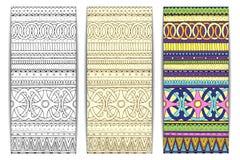 Племенные карточки текстуры Стоковая Фотография RF