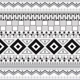Племенные этнические безшовные картины Стоковые Изображения RF