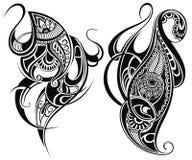 Племенные элементы татуировки иллюстрация штока
