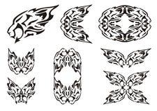 Племенные элементы льва Стоковое Изображение RF