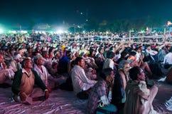 Племенные люди на верблюде справедливом, Раджастхане Pushkar, Индии Стоковые Изображения