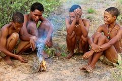 Племя бушменов Сан Стоковое Фото