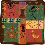 Племя танца Иллюстрация штока