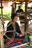 Племя холма Lua меньшинство закручивает вьюрки сделано бамбука в t Стоковое Изображение