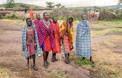 Племя людей Masai в Кении, Африке стоковая фотография rf