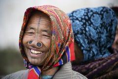Племя Apatani Стоковое Изображение RF