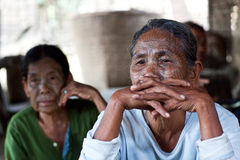 Племя Chin, Мьянма Стоковое Изображение RF