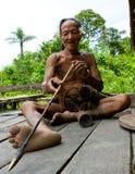Племя Mentawai человека подготавливает отраву для стрелок для охотиться Стоковые Изображения