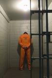 Пленник в тюремной камере стоковое фото