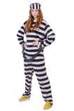 Пленник в striped форме Стоковое Изображение