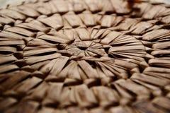 Плетеная деталь placemat стоковые фотографии rf