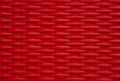 Плетеная красная текстура стула Стоковые Изображения