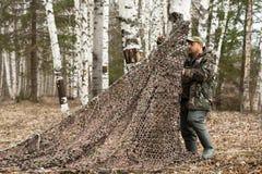 Плетение камуфлирования места охотника Стоковые Фотографии RF
