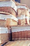 Плетеные корзины Стоковое фото RF