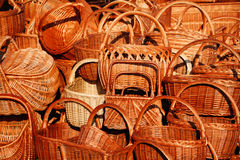 Плетеные корзины Стоковые Фотографии RF