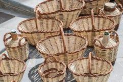 Плетеные корзины Стоковые Изображения