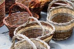 Плетеные корзины Стоковое Фото