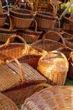 Плетеные корзины handmade 2 Стоковое Фото