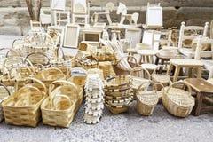 Плетеные корзины handmade Стоковая Фотография
