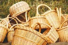 Плетеные корзины handmade Стоковые Фото