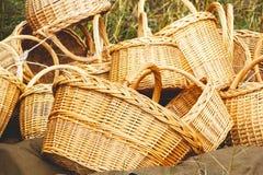 Плетеные корзины handmade Стоковая Фотография RF