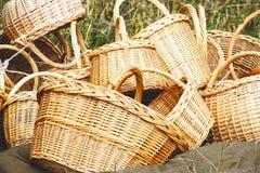 Плетеные корзины handmade Стоковое Изображение
