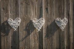 Плетеные сердца Стоковое Изображение