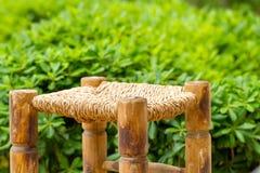 Плетеный деревянный стул Стоковое Изображение