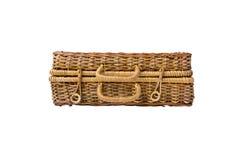 Плетеный ретро чемодан Стоковое Изображение