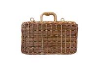 Плетеный ретро чемодан Стоковая Фотография