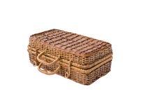 Плетеный ретро чемодан Стоковое Фото