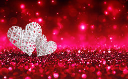 2 плетеных сердца Стоковое Изображение