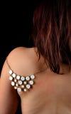 Плечо задней части женщины Redhead Стоковая Фотография RF