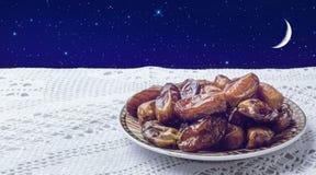 Плита дат и ночного неба Стоковые Фото