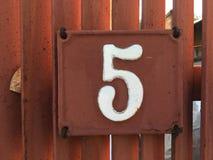 Плита винтажного металла квадрата grunge ржавая номера адреса улицы с номером Стоковые Фотографии RF