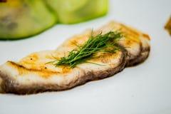 плита выкружки зажженная рыбами Стоковые Изображения