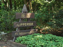 Плита городка на Lipperode стоковые фотографии rf