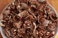 Плита грецких орехов Стоковое Изображение RF