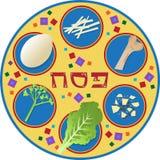 Плита еврейской пасхи иллюстрация штока