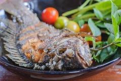 плита зажаренная рыбами Стоковые Фотографии RF