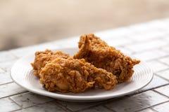 плита зажаренная цыпленком Стоковое Изображение RF