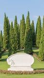 Плита знака цемента в парке Стоковое Изображение