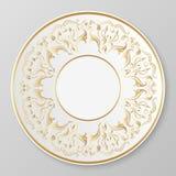 Плита золота вектора декоративная Стоковое Изображение