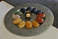 Плита здоровья с камнем Стоковое Фото
