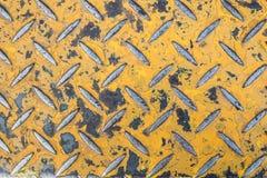 Плита диаманта ржавчины металла Стоковая Фотография