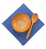 Плита и ложка на белизне стоковая фотография rf