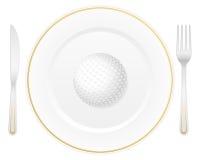 Плита и шар для игры в гольф Стоковые Изображения