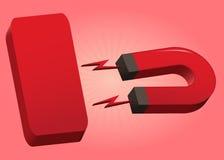 Плита красного цвета магнита Стоковая Фотография RF