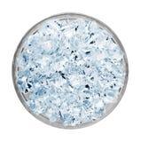 Плита кубов льда снятых сверху Стоковое фото RF